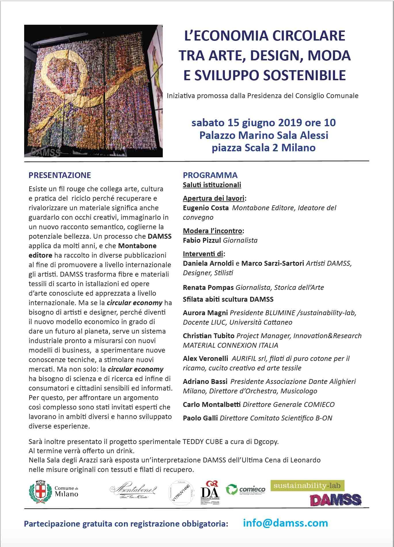 aurifil t'invita a Milano a un workshop sulla sostenibilità e sul riuso creativo nel settore della moda e del design
